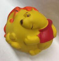 Vtg WINNIE THE POOH & TIGGER Vinyl Rubber Ball Toy w/ Squeaker 1970s Walt Disney