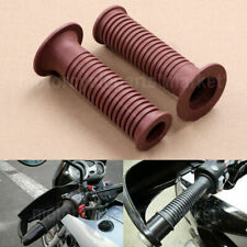 2x 7/8'' Motorcycle Rubber Hand Grips Handlebar for BMW R1100 R1150 GS R S F650