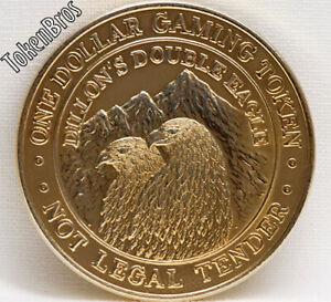 $1 GOLD SLOT TOKEN COIN DILLION'S DOUBLE EAGLE CASINO 1991 GDC MINT CENTRAL CITY