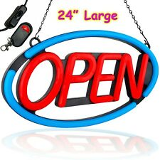 Large Led Open Sign Neon Light Bright For Restaurant Bar Pub Shop Store Business