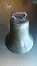 "Antique Brass Horse Bell Large 4"" High Beautiful Patina"