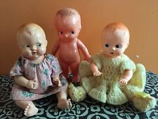 VTG Hard Plastic Doll Lot ~ One Ideal Boopsie Type And Two Irwin Dolls