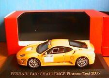 FERRARI F430 CHALLENGE FIORANO TEST 2005 IXO SPORT FER042 1/43 YELLOW JAUNE IPOD