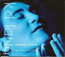 KD LANG Constant Craving EDIT & 2 LIVE UK CD Single 1992 USA Seller SEALED k.d.