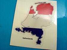 NETHERLANDS Flag & Map Motorcycle Helmet Van Car Bumper Sticker Decal 1 off 80mm