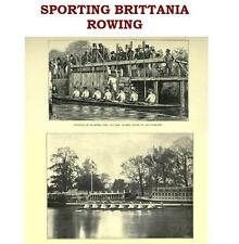 Rowing Boating Vintage Books on CD Sculling Oarsman Boat Race Gift for the Rower