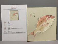New listing Seiho Japanese Woodblock Print Sea Bream