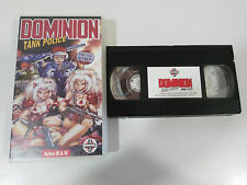 DOMINION TANK POLICE ACTOS III & IV - VHS TAPE CINTA COLECCIONISTA ANIME MANGA