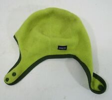 Patagonia Fleece Synchilla Baby Hat Green Xxs 0-3 Months Snap T Close