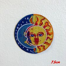 Blue Moon and Yellow Sun Eclipse Valentino ROSI Embroidered Iron on Patch #1832