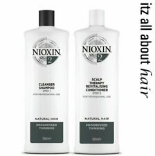 Nioxin System 2 Cleanser Shampoo and Scalp Revitaliser Conditioner 1L Duo