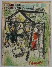 CHAGALL MARC LITHOGRAPHIE COUVERTURE 69 DLM N°182 DERRIÈRE LE MIROIR LITHOGRAPH