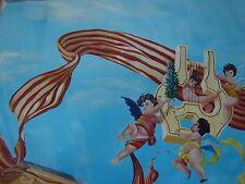 HUGE Charleston SC CEILING ART 4 Panel Putti Cherub MUSIC OIL PAINTINGS CANVAS