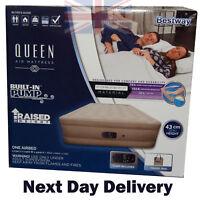 Bestway Premium Raised Airbed Air Bed Mattress + Built-in Pump Queen