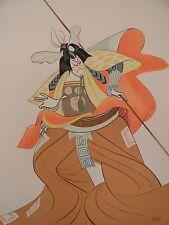 Al Hirschfeld Original Hand Signed Lithograph Kabuki Theater: Shibaraku