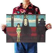 Spirited Away Decoration Poster Vintage Wall Posters Painting for Walls Bedroom