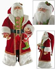 """Katherine's Collection 24"""" Long Coat Santa Claus Christmas Doll 28-628074 NEW"""