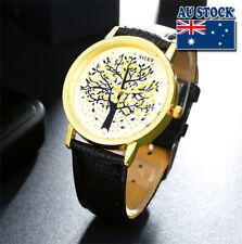 New Fashion Tree of Life Leather Alloy Quartz Analog Wrist Man's Watch Gift