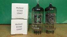 Pair of Mullard ECC83 12AX7 I61 1960 Vacuum Tubes - 8% matched