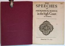 English Civil War / SPEECHES Of Sr BENJAMIN RUDYER sic In The HIGH COURT