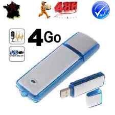 MINI DICTAPHONE USB ENREGISTREUR VOCAL AUDIO MICRO ESPION CLE FLASH 4GO GB