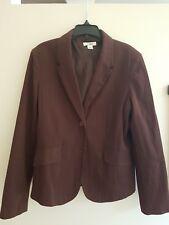 Cato Cotton Rust Brown / Tobacco Blazer Size 12