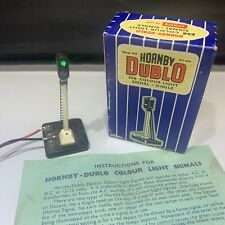HORNBY DUBLO ES6 COLOUR LIGHT SIGNAL &BOX VINTAGE OO ELECTRICAL OPERATED WORKING