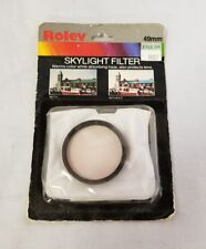 Rolev Skylight Filter 49mm Camera Warms Color While Absorbing Haze Protects Lens