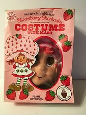 Vtg Ben Cooper Strawberry Shortcake Halloween Child Costume Mask Size L