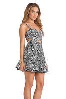Bec & Bridge Snow Leopard Mini Cutout Dress NWT Size US 8 $260