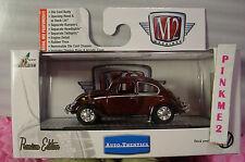 M2 Machines 1967 VW BEETLE DELUXE USA MODEL❀Maroon-Red VOLKSWAGEN Bug❀Rubber