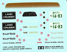 TAMIYA Decal 24107 1/24 Toyota Land Cruiser 80 VX Limited