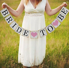 Bride TO BE Paper Banner Cardbord Bridal Shower Party Photo Booth Wedding Decor