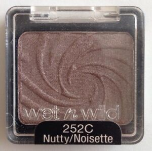 Wet N Wild Coloricon Eyeshadow Mono 252C Nutty Brown Nude Taupe Coffee