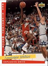 1993 94 Upper Deck NBA Signature Moves #240 Dominique Wilkins Atlanta Hawks