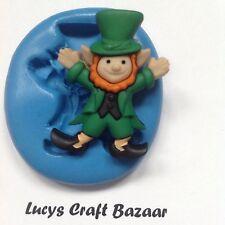 Silicone Mould Lucky Leprechaun St Patricks Day Cupcake Pop Topper Sugarcraft
