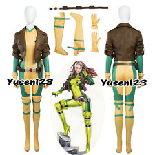 Ms. Rogue Anna Marie Halloween Cosplay Costume Jumpsuit Jacket