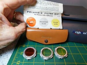 Vintage Polaroid No.541 Camera Filter 3-Polarizing & Color Lens Kit Fits 30-32mm