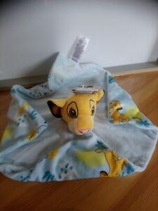 Doudou Simba roi lion jaune bleu imprimé Simba Pumba Timon Disney Primark neuf