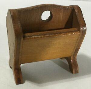 1950s DOLL HOUSE Magazine Rack wooden holder stand