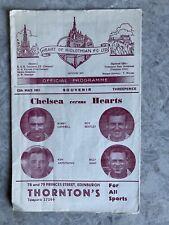 More details for hearts v. chelsea friendly souvenir match programme: 12.05.1951