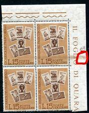 VI Giornata del francobollo - varietà taglio chirurgico