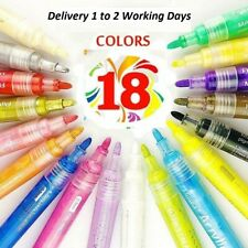 Acrylic Paint Pens For Wood,Glass,Stone,Wood, Fabric,Matal,Water Proof 18 Marker