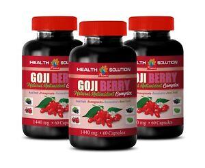 antioxidant complex - GOJI BERRY 40% EXTRACT - blood sugar control 3 Bottles