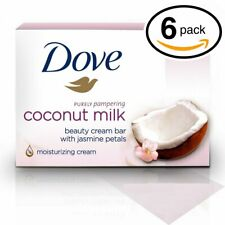 New listing (Pack Of 6 Bars) Dove Unscented Beauty Soap Bar: Coconut Milk. Hypo-Allergenic &