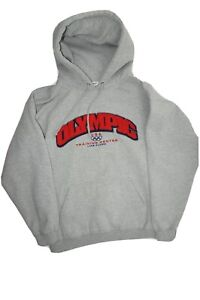 Vintage USA Olympic Training Center Lake Placid Hoodie Gray Size XL Sweatshirt