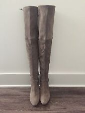 Authentic Stuart Weitzman Highland Topo Suede Over Knee (OTK) Boot Size 10 M