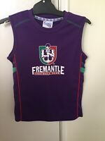 Vintage Fremantle Dockers Official AFL Jersey Guernsey Youth Size 12 Old Logo