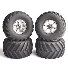 4Pcs Dia 135mm 1:10 Monster Truck Bigfoot Tires&Wheel 12mm Hex F RC Climbing Car
