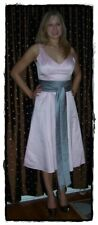 NWOT DA VINCI Light Pink Gray Satin Bridesmaid Prom Dress Gown 10